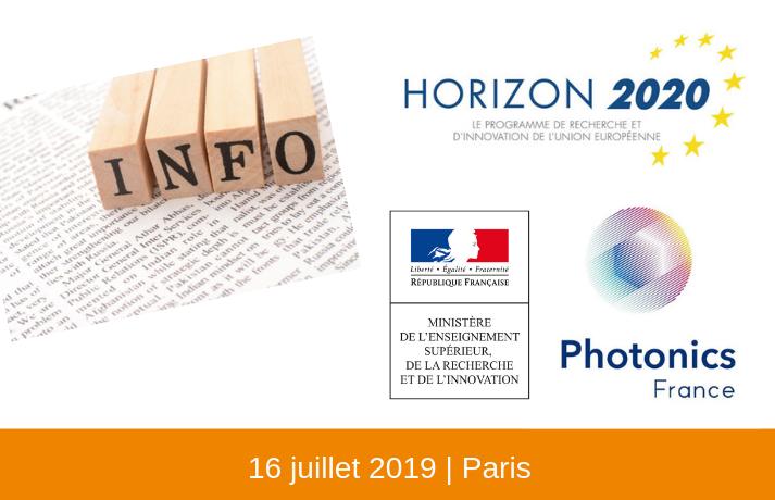 H2020 : Réunion d'information sur les financements européens en Photonique
