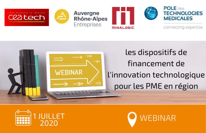 Webinar sur les dispositifs de financement de l'innovation technologique pour les PME en région